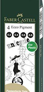 ESTUCHE 4 ROTULADORES CALIBRADOS ECCO PIGMENT 0.2/0.4/0.6/0.8 FABER-CASTELL 167004