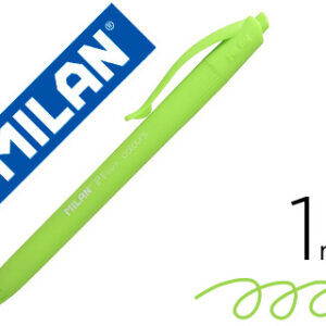 MILAN Bolígrafo retractil P1 Touch Colours verde claro