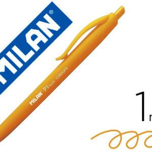 MILAN Bolígrafo retractil P1 Touch Colours naranja