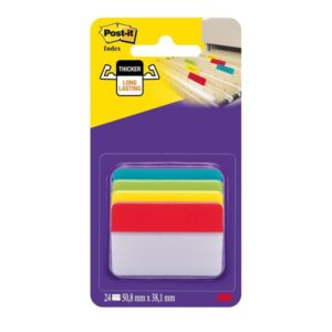 POST-IT Indices adhesivos Blister 6 ud 4 indices/ud 51X38 Colores surtidos Rigidos 70071355427