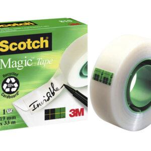 SCOTCH Cinta adhesiva Invisible 810 Repara documentos 8ud  19x33mm No amarillea  FT510116336