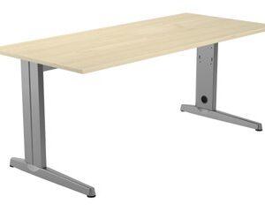 ROCADA Mesa rectangular Serie Metal 180x80cm Aluminio/Haya