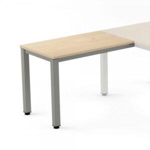 ROCADA Ala para Mesa rectangular Serie Executive 100x60cm Aluminio/Haya