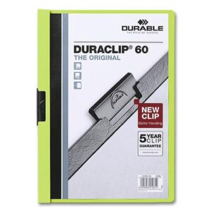 DURABLE Dossiers clip Duraclip Capacidad 60 hojas A4 verde PVC 2209-04