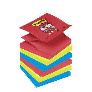 POST-IT Notas adhesivas Sticky Z-Notes Pack 6 blocs Amapola, verde neón, zafiro 76x76mm 70005253573