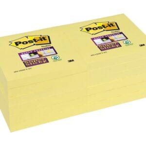 POST-IT Notas adhesivas Pack 12 blocs Amarillo 76x76mm 654-12SSCY-EU
