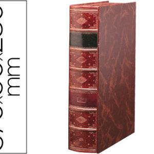 Revistero Pardo serie premier lomo de 90 mm color burdeos.