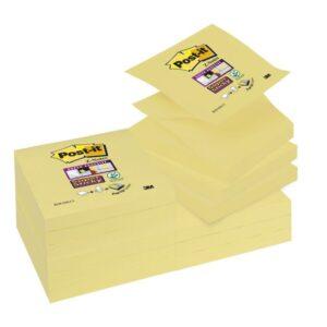 POST-IT Notas adhesivas Sticky Z-Notes Pack 12 blocs Amarillo 76x76mm 70005197796