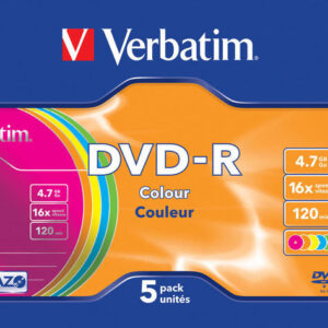 VERBATIM DVD-R Advanced azo Caja 5 16X 4.7GB 43557