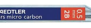 STAEDTLER Mina Mars Micro Carbon Estuche 12ud Trazo 0.5 mm 2B 05-2B