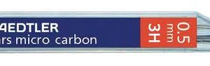 STAEDTLER Mina Mars Micro Carbon Estuche 12ud Trazo 0.5 mm 3H 25005-3H