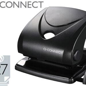 TALADRADOR Q-CONNECT NEGRO -ABERTURA 2,7 mm -CAPACIDAD 27 HOJAS