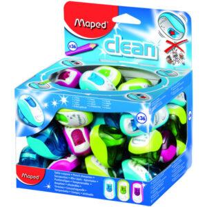 MAPED Afilalapiz Clean Simple Verde, rosa o azul Con depósito 030111