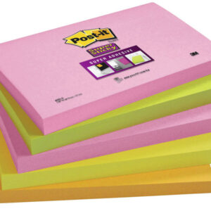 POST-IT Notas adhesivas Super Sticky Pack 5 blocs 90h Neon surtidos 76x127mm 70005253318