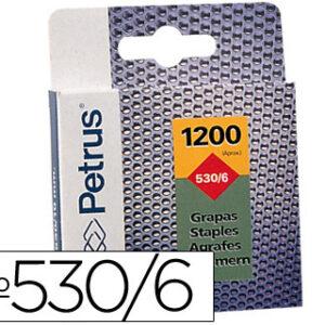 GRAPAS PETRUS Nº 530/6 -CAJA DE 1200 GRAPAS