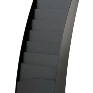PAPERFLOW Expositor de pie curvo 108,3x25x35 cm 8 Casillas 285.01