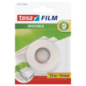 TESA Cinta adhesiva  Invisible 19mmx33m Uso universal Fotocopiable y rotulable  8100304