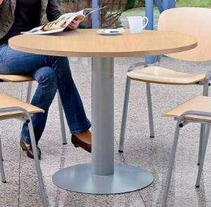 ROCADA Mesa circular Serie Meeting acero diametro 100cm Aluminio/Gris