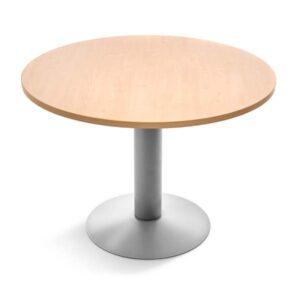 ROCADA Mesa circular Serie Meeting acero diametro 120cm Aluminio/Haya