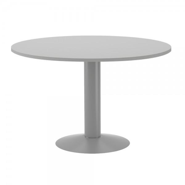 ROCADA Mesa de reunión circular Serie Meeting Melamina Diametro 120cm Gris 3006AT02