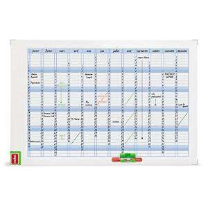 NOBO Planning Magnetico Anual 60x90cm Con borrador/rotlador/kit 3048001