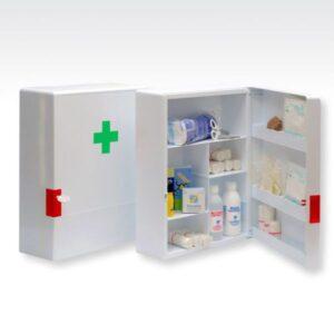 BUGA Botiquín primeros Auxilios con Cerradura Plastico 15748