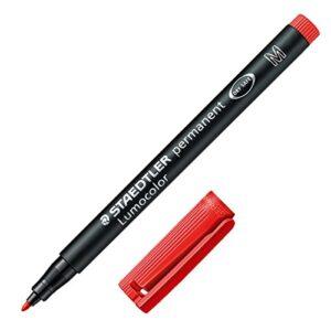 STAEDTLER Marcador permanente Lumocolor  Trazo 1mm Punta media Rojo 317-2