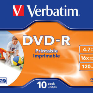 VERBATIM DVD-R Advanced azo Jewel Case 10 16X Imprimible Inkjet 4.7GB 43521