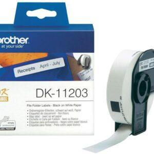 BROTHER Etiqueta precortada 300Ud 17x87mm Blanco DK-11203