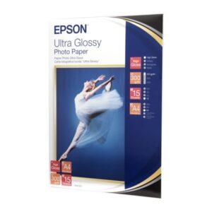 EPSON Papel fotografico 15 hojas A4 Brillo Ultra C13S041927