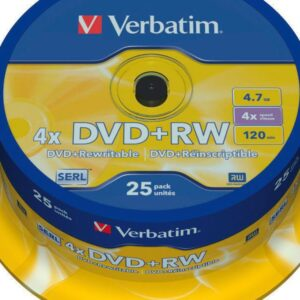 VERBATIM DVD+RW Advanced Serl Bobina 25 4X 4.7GB 43489