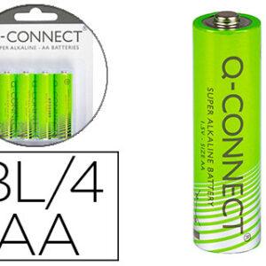 BLISTER 4 PILAS ALCALINAS AA 1,5V Q-CONNECT KF00489