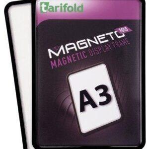 TARIFOLD PACK-2 MARCO MAGNETO IMAN A3 NEGRO SUPERFICIE ANTIRREFLEJO ESQUINAS REDONDEADAS 195067