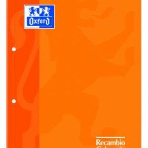 OXFORD Recambio de papel 80h A4 Cuadricula 5×5 Naranja 969104