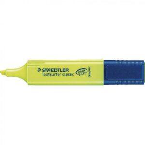 STAEDTLER Marcador fluorescente Classic Trazo 1-5mm Punta biselada Amarillo Secado rapido 364-1