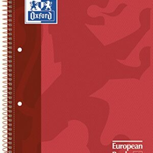 OXFORD Cuaderno School 80h A4 Cuadricula 5×5 Rojo 100430198