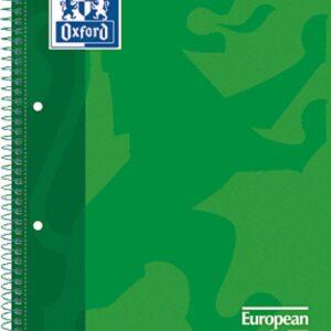 OXFORD Cuaderno School 80h A4 Cuadricula 5×5 Verd 20567