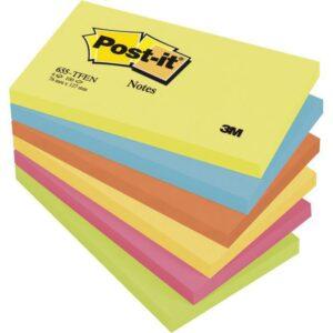 POST-IT Notas adhesivas Gama Energia Pack 6 blocs 100h Colores surtidos 76x127mm FT510283557