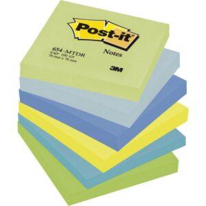 POST-IT Notas adhesivas Gama Fantasia Pack 6 blocs 100h Colores surtidos 76x76mm FT510283516
