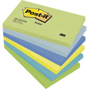 POST-IT Notas adhesivas Gama Fantasia Pack 6 blocs Colores surtidos 76x127mm FT510283524