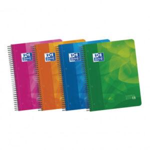 OXFORD Cuaderno polipropileno School 120h A4 Cuadricula 5×5 Surtido 400027277