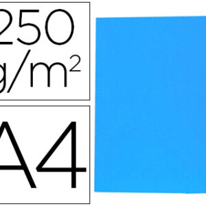 GIO Subcarpetas Gio by Elba Caja 50 ud A4 Cartulina Azul 250 G