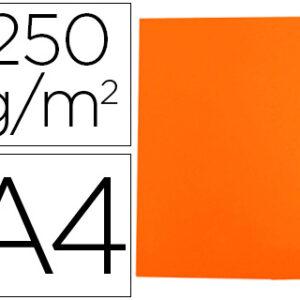 GIO Subcarpetas Gio by Elba Caja 50 ud A4 Cartulina Naranja 250 G