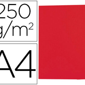 GIO Subcarpetas Gio by Elba Caja 50 ud A4 Cartulina Rojo 250 G
