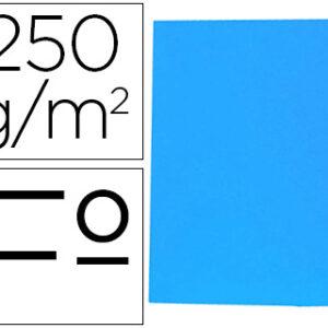 GIO Subcarpetas Gio by Elba Caja 50 ud Folio Cartulina Azul 250 G