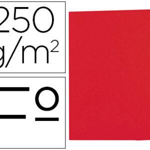 GIO Subcarpetas Gio by Elba Caja 50 ud Folio Cartulina Rojo 250 G