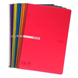 ENRI Cuaderno Tapa Plastico 80h A5 Cuadricula 4×4 Surtido