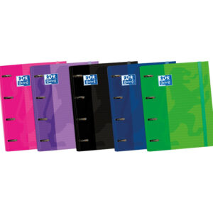 CARPETA A4+ OXFORD 4 ANILLAS + RECAMBIO 5 COLORES CARTON 400106676