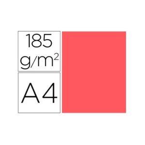 GUARRO CANSON Paquete 50 cartulinas IRIS Coral a4 185 gr