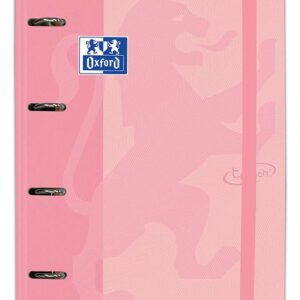 CARPETA CARTON A4+ OXFORD 4 ANILLAS TOUCH + RECAMBIO COLOR FLAMINGO PASTEL 400127154